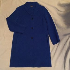 VINCE Peacock Blue Wool Coat - Large